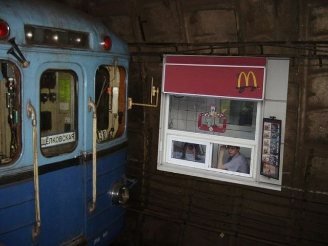 McDonald's in subway in russia