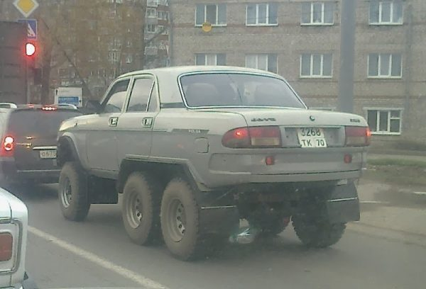 GAz volga car with 4X4 jeep wheels