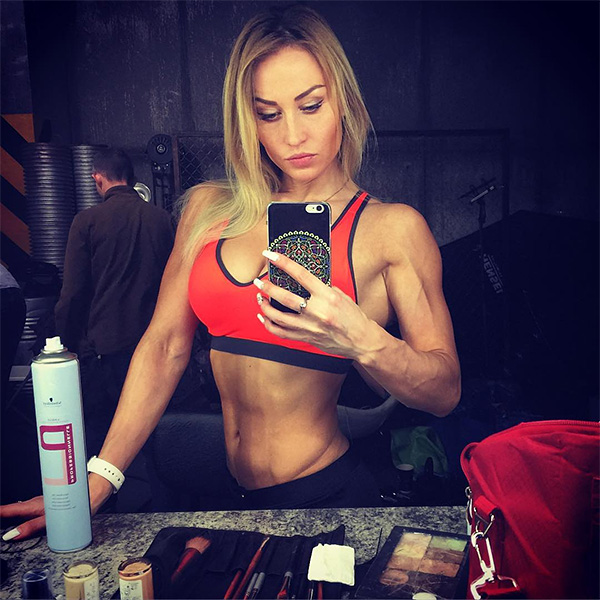 russian woman with ripped figure