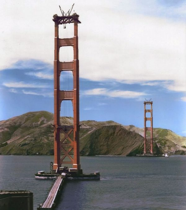 Golden Gate Bridge Construction 1934