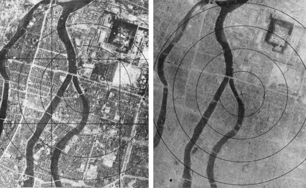 Hiroshima before and after the atomic bomb