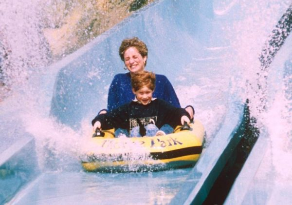 princess diana with prince harry in amusement park in 1992