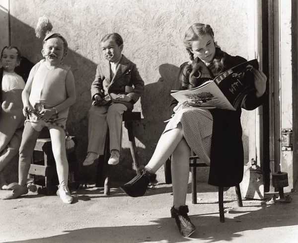 Judy Garland taking a break during filming WOO in 1938