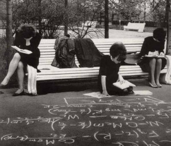 soviet college girls studying in late 1960s